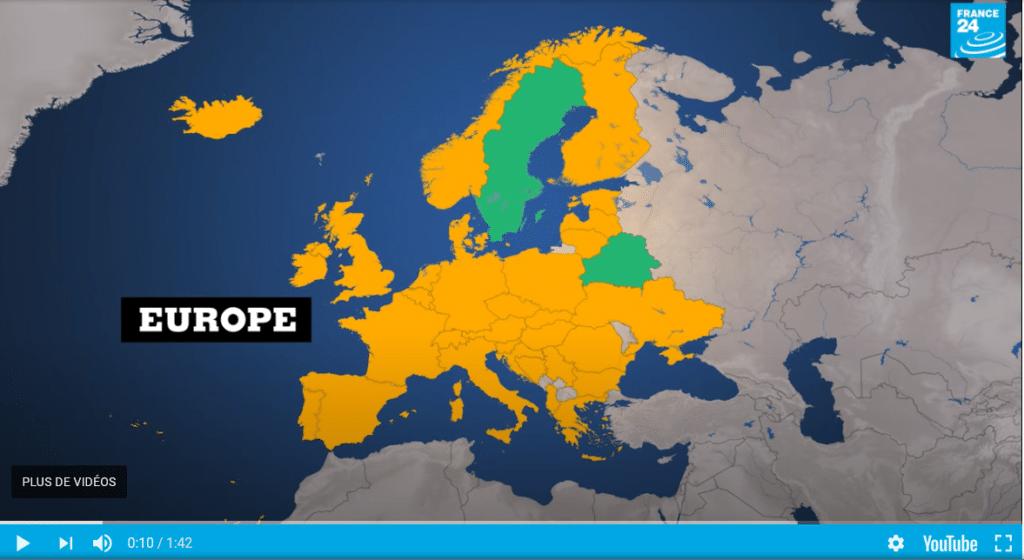 Source : France 24 https://www.france24.com/fr/video/20200603-covid19-carte-mondiale-deconfinement le 3 juin 2020